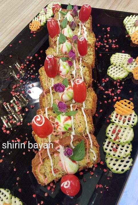 کیک سبزیجات ویژه ی شیرین بیان