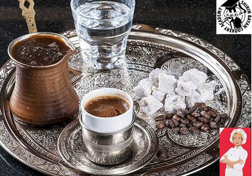 طرز تهیه قهوه ترک   شیرین بیان