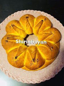 طرز تهیه نان زعفرانی | شیرین بیان