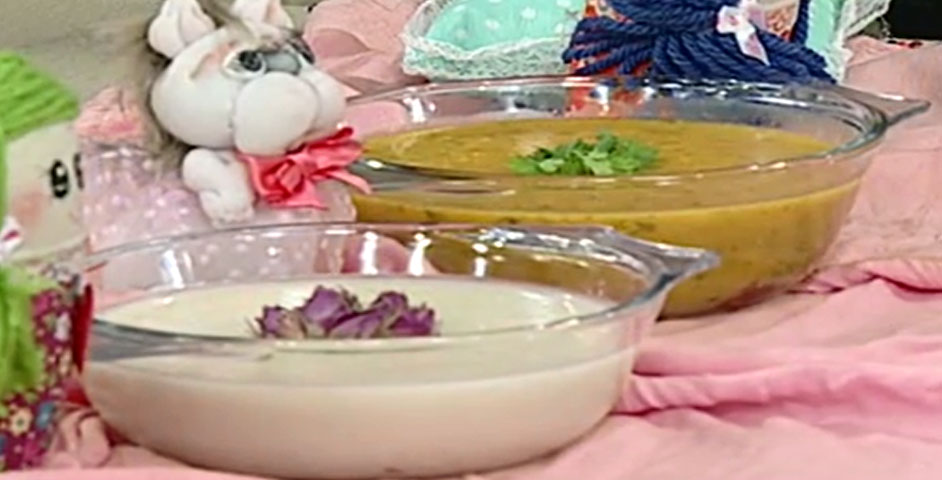 طرز تهیه سوپ سبزیجات و حریر بادام | شیرین بیان